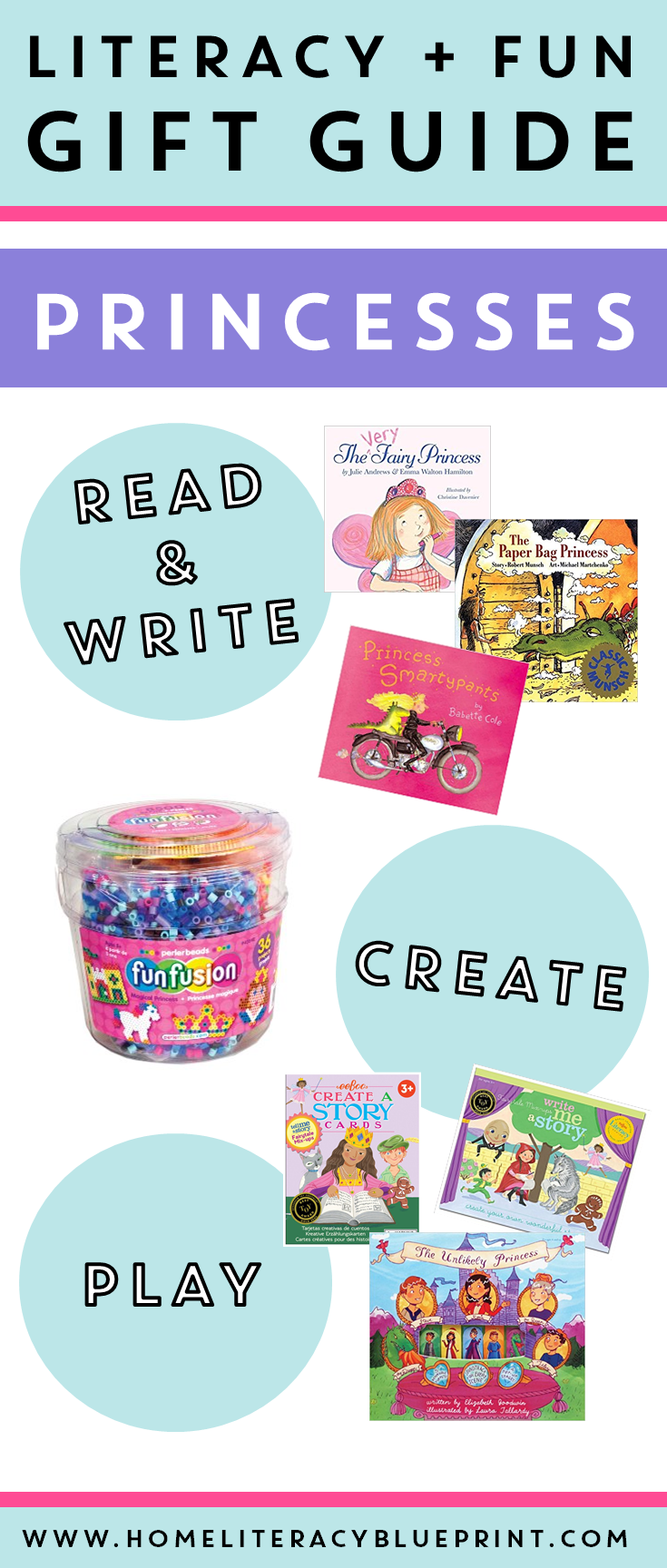 Literacy Fun Gift Guide - Princesses