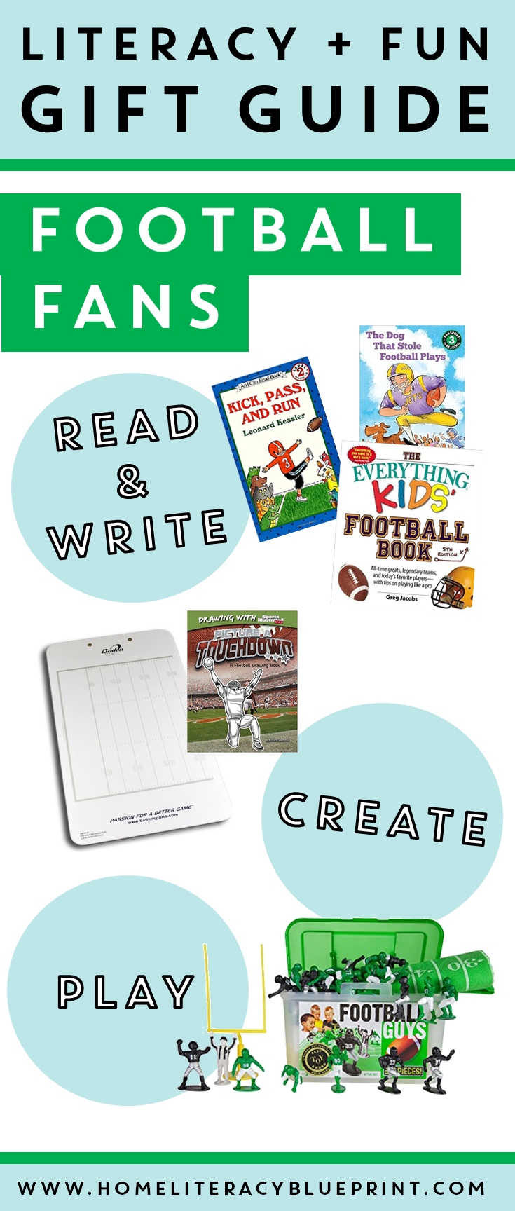 Literacy Fun Gift Guide for Young Football Fans