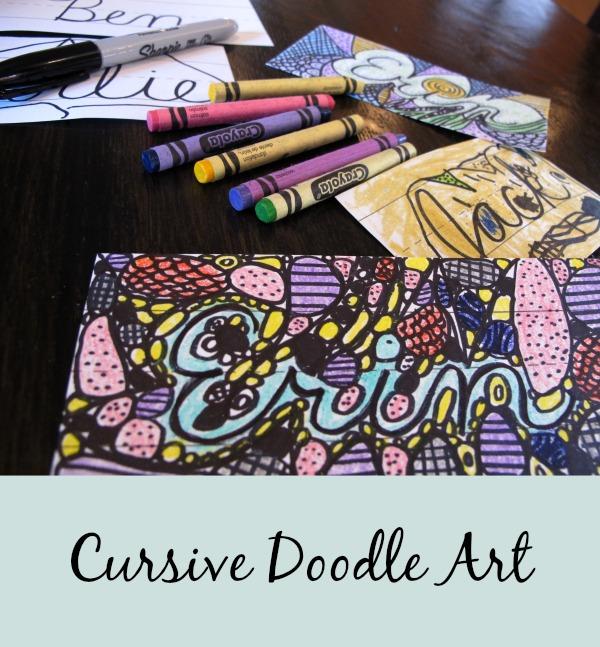 Cursive Doodle Art