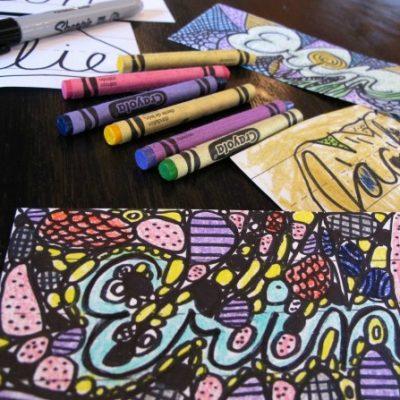 Cursive Doodle Art1