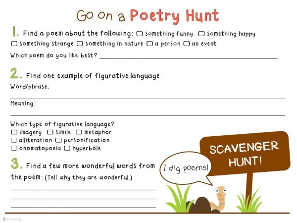 Digging Poetry Home Literacy Blueprint