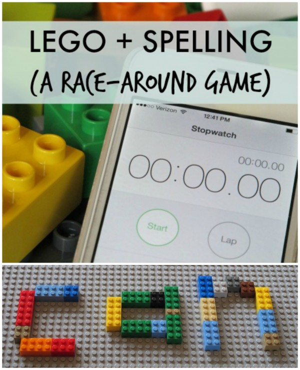 LEGO Spelling Race Around