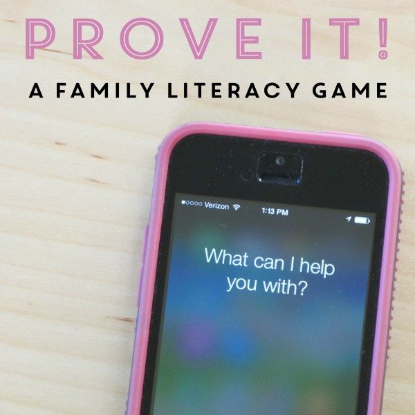Prove It A Family Literacy Game
