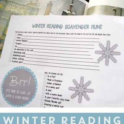 Winter Reading Scavenger Hunt