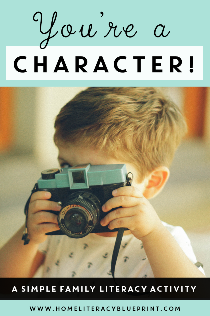 A fun way to learn about characters while looking at family photos. #earlyliteracy #homelearning