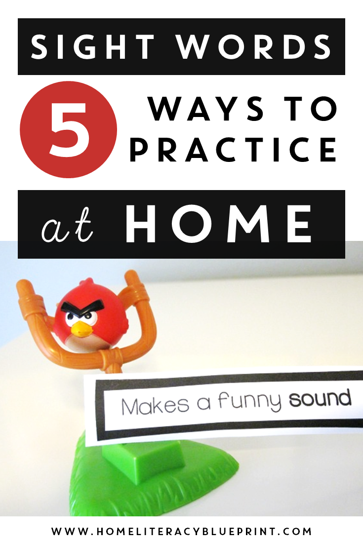 5 Ways to Practice Sight Words at Home #wordwork #spelling #sightwords