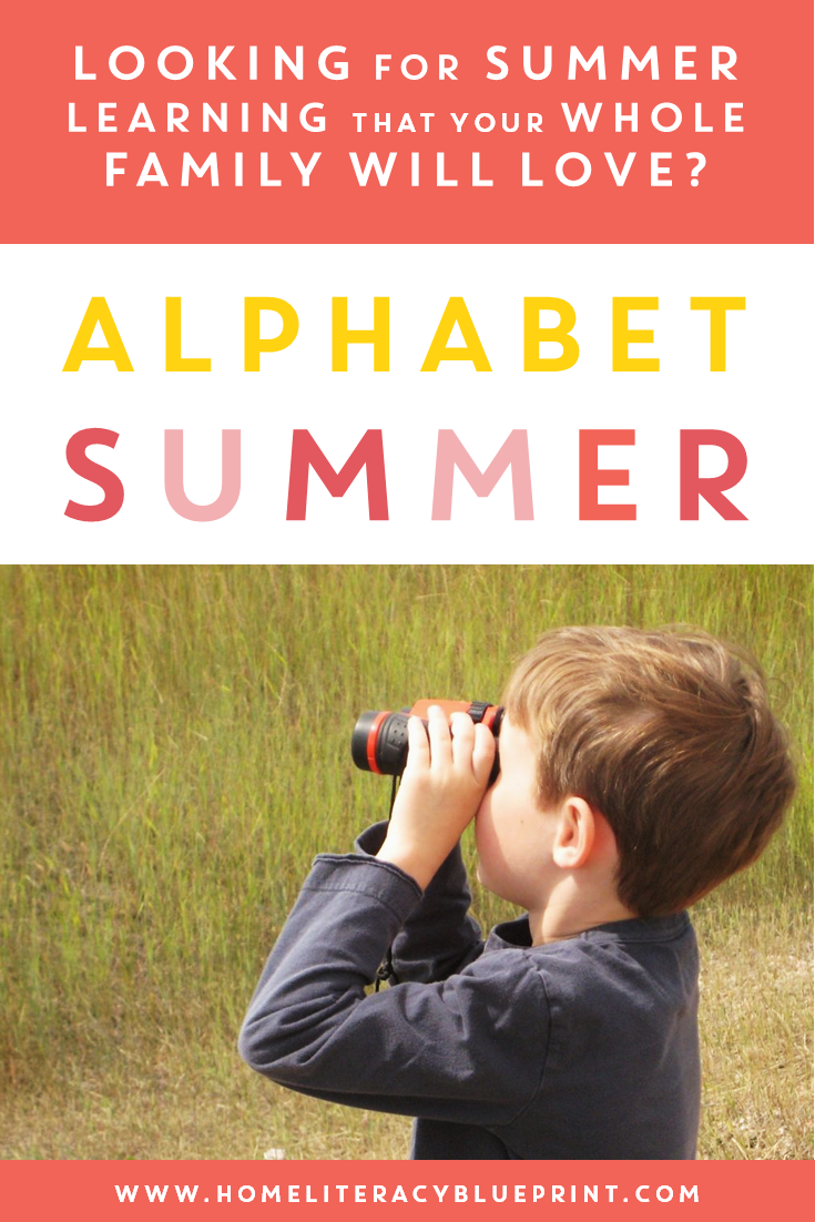 Alphabet Summer: A fun summer learning plan for the whole family! #summerslide #summerlearning #familyfun