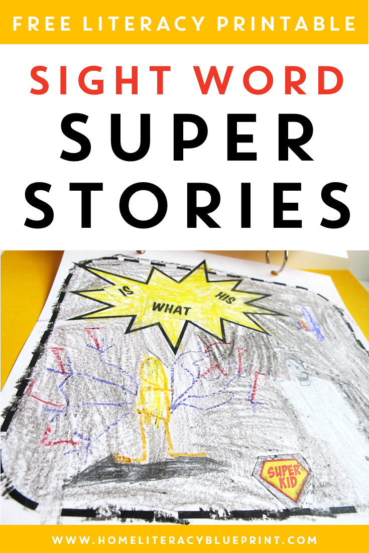 Sight Word Super Stories: A super way to practice sight words! #freeprintable