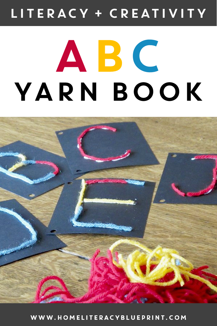 ABC Yarn Book: A fun book making activity for multisensory letter practice #multisensory #finemotorskills #literacy