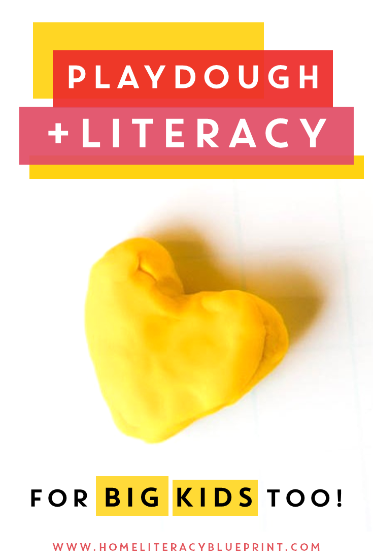 Playdough + Literacy: Activities for big kids too! #literacy #multisensory #handsonlearning