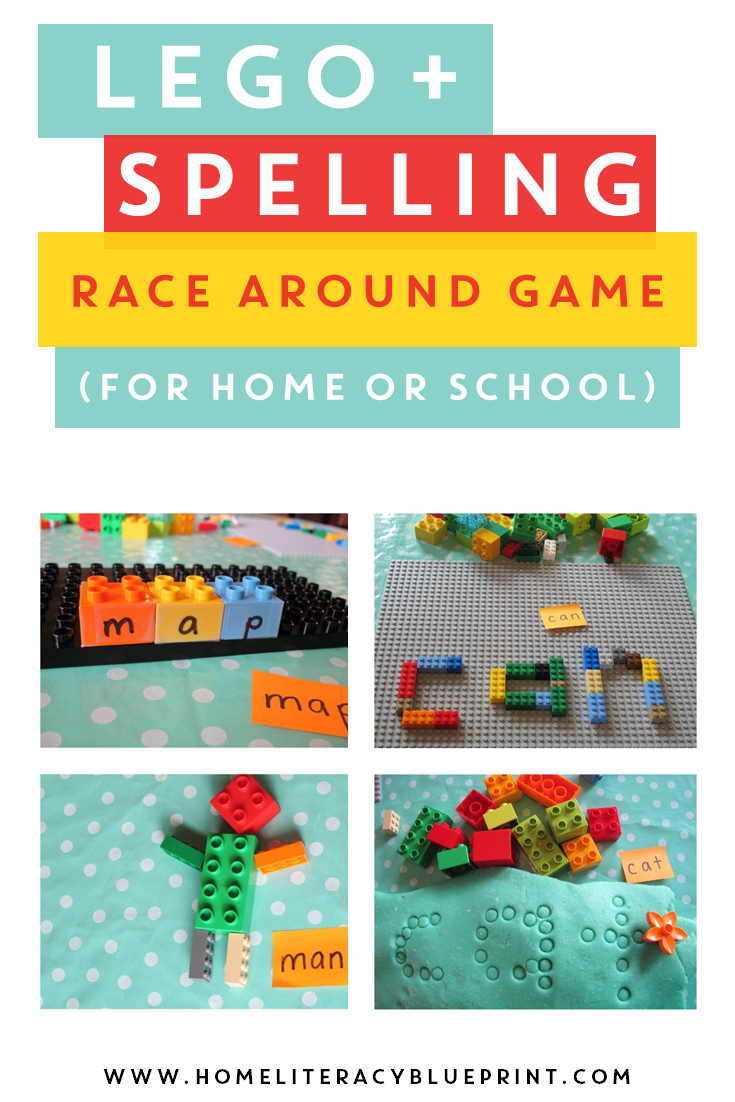 LEGO Spelling Race-Around Game - Home Literacy Blueprint