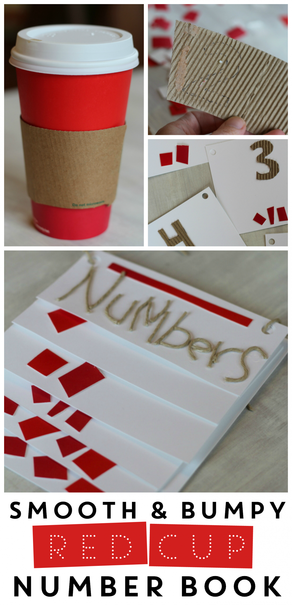 Smooth and Bumpy Red Cup Number Book