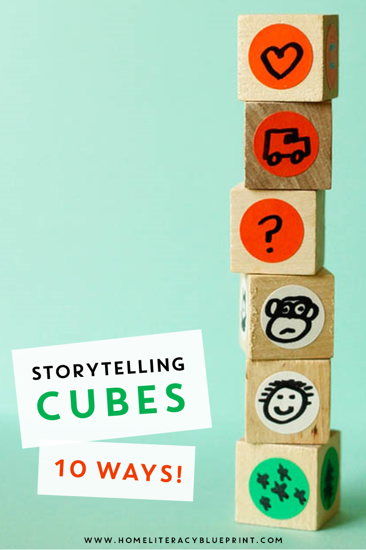 DIY Storytelling Cubes: 10 ways to build literacy and creativity through storytelling. #storytelling #literacy