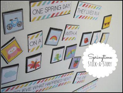 Springtime Stick a Story