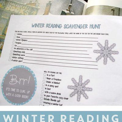 Winter Reading Scavenger Hunt